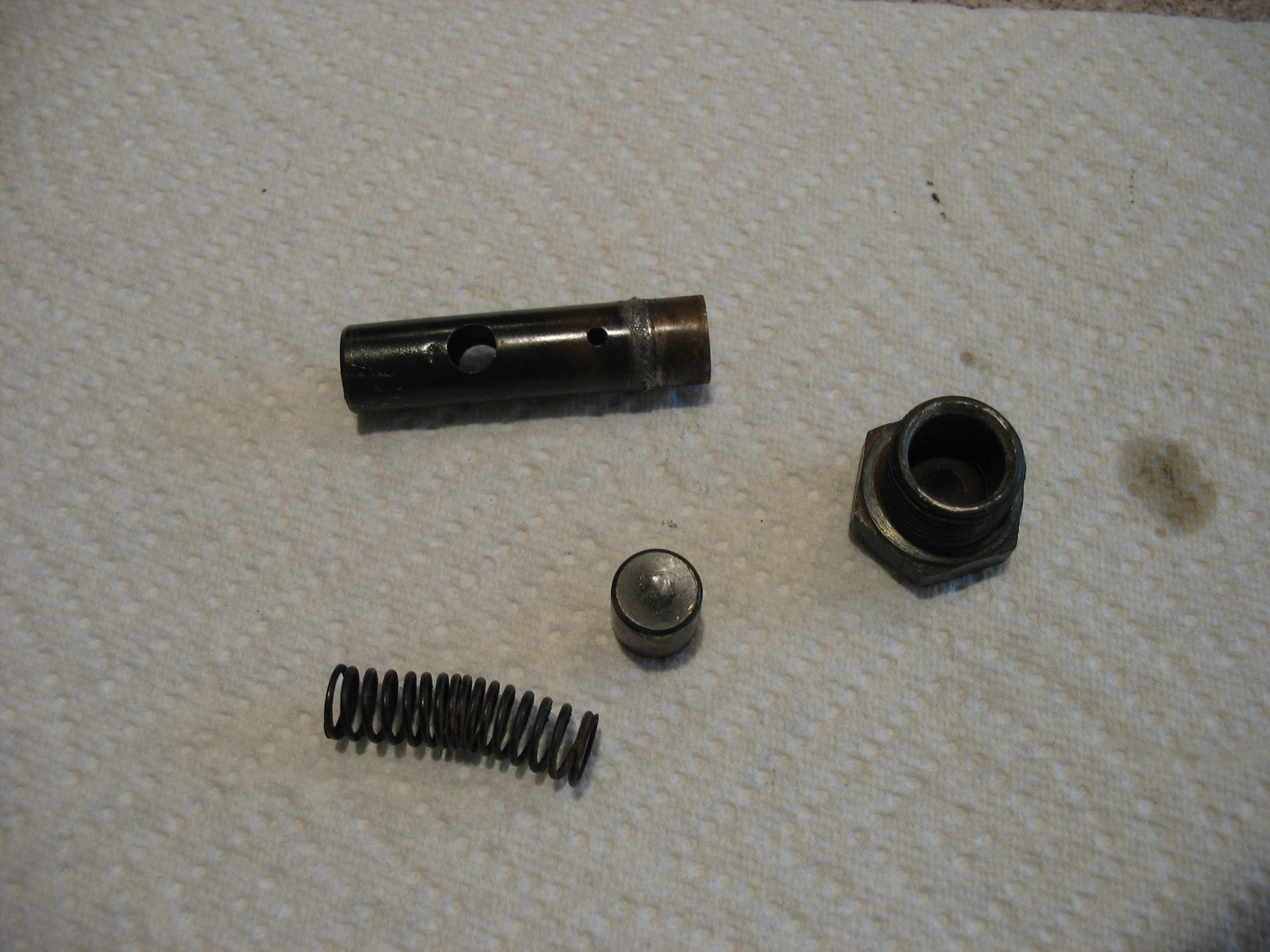 Oil pump pressure relief valve - TEAE org